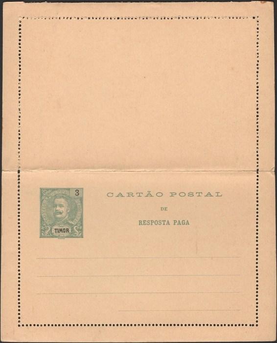 Timor 1905 Bezahlt Antwort Brief Karte Hg 5 Neuwertig